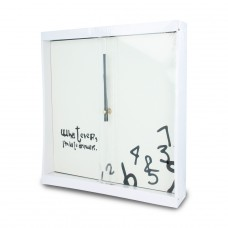 12inch MDF wooden wall clock with artworks printed without numbers