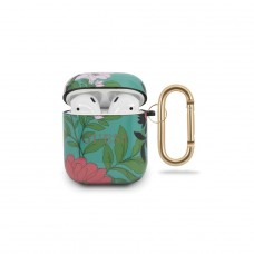 Guess Airpods etui GUACA2TPUBKFL01 zielone Flower Collection