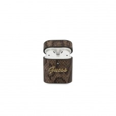 Guess Airpods etui GUACA2PUSNSMLBR brązowe Python Collection