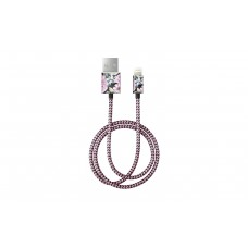 iDeal Fashion Cable - kabel lightning 1 m Peony Garden IEOIDKPG TTT